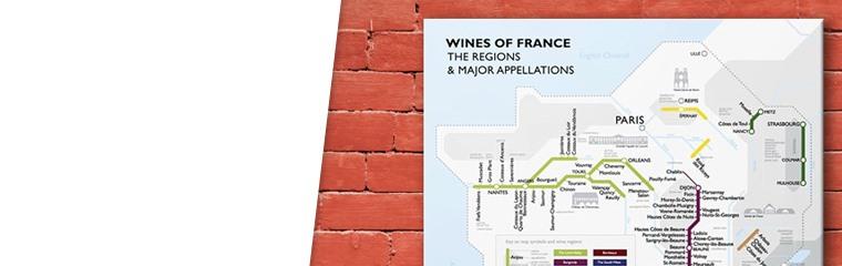 De Long Metro Wine Map of France