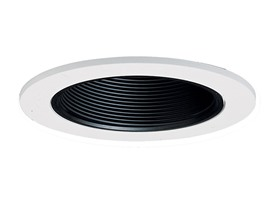 "Halo 993P, 4"" Trim Coilex Baffle White Trim with Black Baffle"