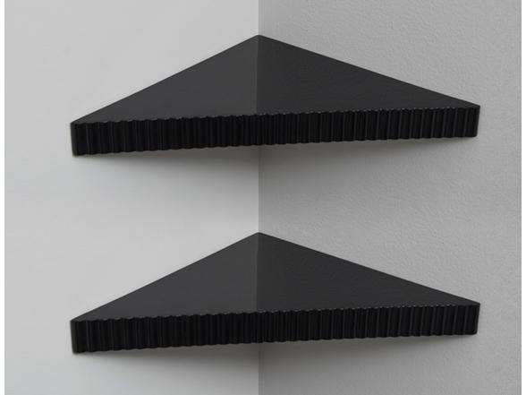 Reusable Triangular Corner Shelves 2 Pack