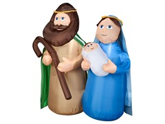 Airblown Holy Family Scene