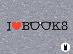 I Love Books Tri-Blend Tank