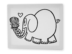 Ella the Elephant Coloring Canvas