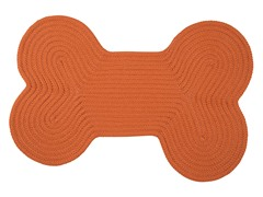 Orange Dog Bone Solid Rug - 3 Sizes