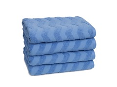 Chevron Bath Towels S/4-Hyacinth