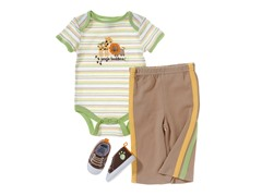 Baby Gear 3-Pc Set - Brown