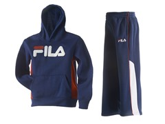 Boys Fleece Set - Logo, Navy (4-7)