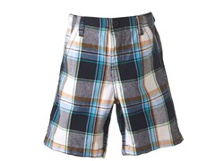 Plaid Shorts - Navy (4-7)