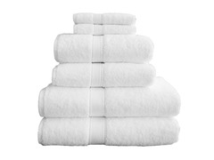 700GSM Terry Cloth 6-Piece Set - White