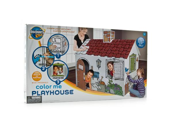 Discovery Kids Cardboard Color Me Playhouse - Kids & Toys