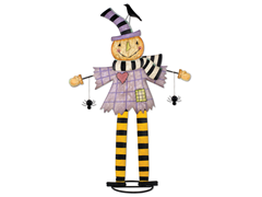 "Sunset Vista Scarecrow Greetings 30""H"