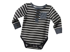 Henley Shirtzie - Grey (3M-24M)