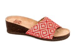 Lea Slide Wedge Sandal, Red