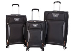 Sharper Image Index 3-Pc Softside Luggage Set -Black