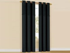 Set of 2: Annecy Grommet Panels - Black
