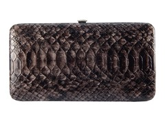 Vecelli Italy Snake Wallet, Brown