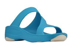 Women's Premium Z Sandal, Peacock / White