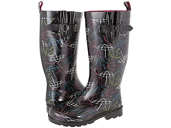 capelli black rain boots