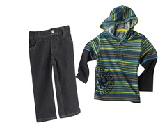 Hooded Twofer & Jeans Set (12M-18M)