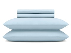 600TC Sheet Set - Light Blue - 3 Sizes