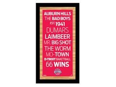 "Detroit Pistons 9.5"" x 19"" Sign"