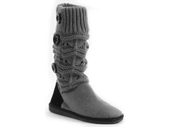 MUK LUKS® Jamie Short Knit Boot, Grey