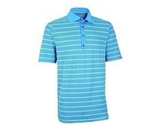 Performance Stripe Golf Shirt-Azure(2XL)