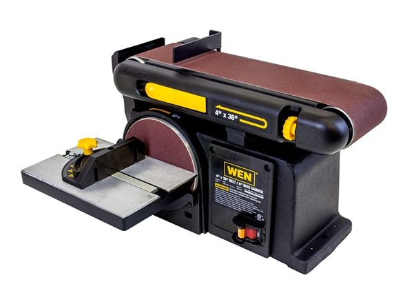 how to clean a disk sander