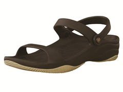 Youth 3-Strap Sandal - Dark Brown/Tan