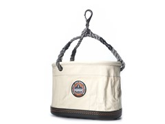 Canvas 14-Pocket Oval Bucket with Rope