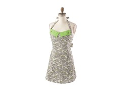 Minerva Apron-Brown/Green - One size