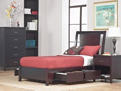 Nevis Twin Low Profile Storage Bed