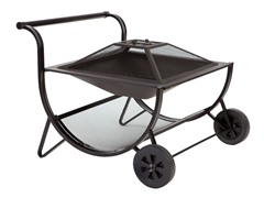 Cart Fire Pit, Black