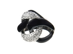 Black Stainless Steel Fashion Ring