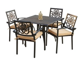 RST Brands Delano 5-Piece Cast Aluminum Café Set