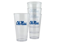 Mississippi Plastic Pint Glasses 4-Pk