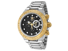 Subaqua 1528 Stainless with Gold Bezel