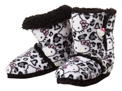 Hello Kitty Junior's Short Slipper Bootie, Grey