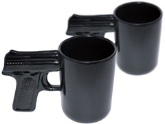 AGS Brands Gun Mug, Set of Two