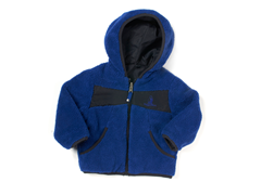 Blue Reversible Sherpa Jacket