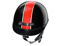 GLX Red Stripe Half Helmet