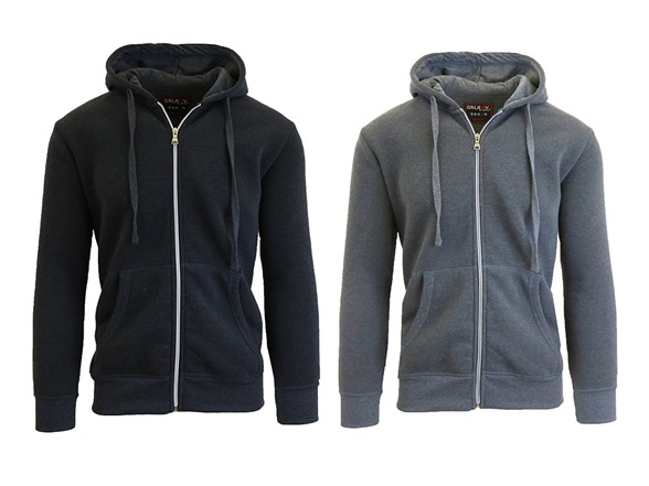 Men's Fleece Zip Up Hoodie 2-Pack 3cc18bb7-d5b8-4fbf-895c-8bec7be73d6d