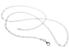 18kt White Gold Plated Valentino Chain