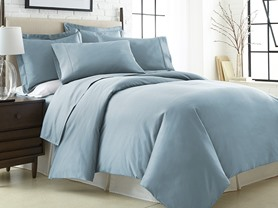 600TC Egyptian Cotton Duvet-Full/Queen-Aqua