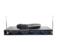 4 Mic VHF Wireless Rack Mount Microphone Sys