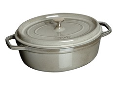 Staub 4-Qt. Wide Oval Cocotte - Grey