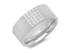 Men's Ring w/ Simulated Diamond Accent