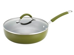 "11"" Covered Deep Skillet Harvest Green"