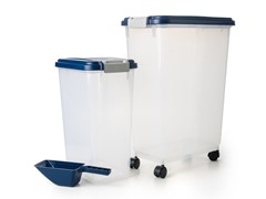 Large Airtight Pet Food Storage Set, 3-Pc