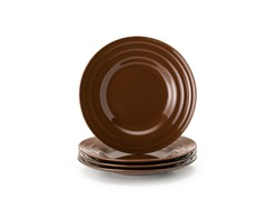 Salad Plates Set of 4-Brown