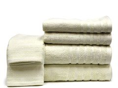 Rayon From Bamboo 6pc Towels-Ivory